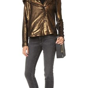 Sequin Hooded Jacket